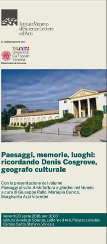 Paesaggi, memorie, luoghi: ricordando Denis Cosgrove, geografo culturale