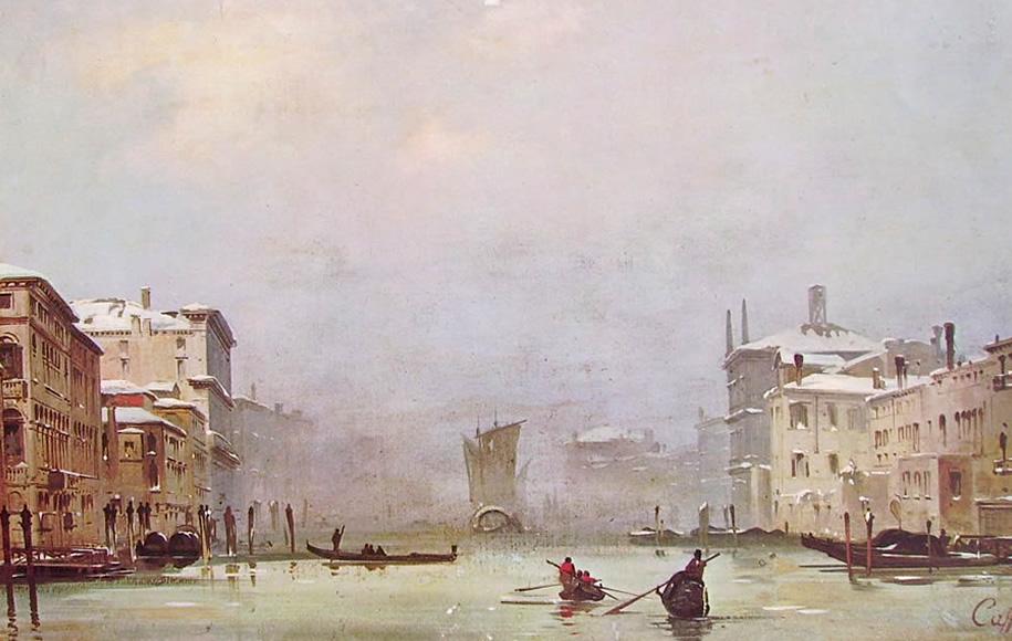 Ippolito Caffi, Neve e nebbia a Venezia